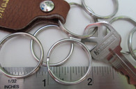 "SPLIT KEY RINGS Steel Nickel Plate 7/8"" ID 100 pcs"