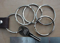 "SPLIT KEY RINGS Steel Nickel Plate 1 1/4"" ID 75 pcs"