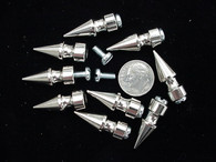 "SPIKES METAL SCREWBACK 1"" LONG 12 pcs"