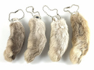 RABBIT RABBITS FOOT KEYCHAIN WHITE/NATURAL 4 Pieces