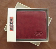 MENS BROWN LEATHER WALLET BIFOLD COWHIDE BOXED NEW FL57