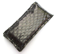 MAGNETIC MONEY CLIP GENUINE BLACK SNAKE SKIN