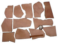 LEATHER SIDE VEG VEGETABLE TAN SPLIT PIECES MIXED 2 LBS