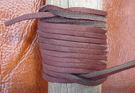 LACE LACING LEATHER TOPGRAIN CHOC BROWN 12 FT (two 6 x 2') Pieces