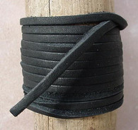 LACE LACING LEATHER TOPGRAIN BLACK 50 FOOT SPOOL