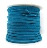 LACE LACING LEATHER SUEDE TURQUOISE BLUE 25 YARD SPOOL