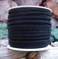 LACE LACING LEATHER SUEDE BLACK 25 YARD SPOOL MADE IN USA