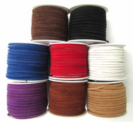 LACE LACING GENUINE LEATHER SUEDE KIT 8 YARDS ASSORTED COLORS