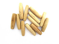 Genuine Hairpipe Bone: Teastained, Antiqued 1 inch long, 25 pieces