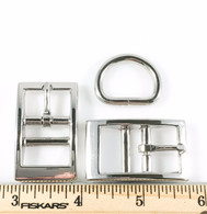 "DOG COLLAR BUCKLES with DEE 3/4"" Nickel Finish 12 Sets"