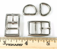 """DOG COLLAR BUCKLES with DEE 1/2"""" Nickel Finish 20 Sets"""