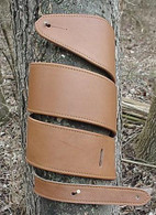 CUSTOM LIGHT BROWN TOPGRAIN LEATHER GUITAR STRAP