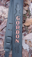 CUSTOM TOOLED LEATHER GUITAR STRAP WITH YOUR NAME!