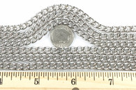 CURB CHAIN WELDED 1.6MM 10 FOOT LENGTH Nickel Finish