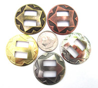 """CONCHOS Mixed Colors 1"""" Round Western Star 25 pieces"""