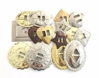 CONCHOS GRAB BAG! BIG Mixed Sizes Slotted 50 pieces