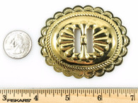 "CONCHOS 2 3/4"" BIG WESTERN BRIGHT GOLD 6 pieces #50065"
