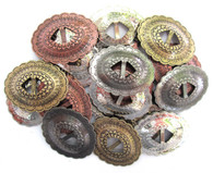 "CONCHOS 1 1/4"" Mixed Colors Western Oval Shape 20 pieces"