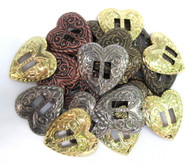 "CONCHOS 1 1/4"" Heart-Shaped Western Mixed Finishes 24 pieces"