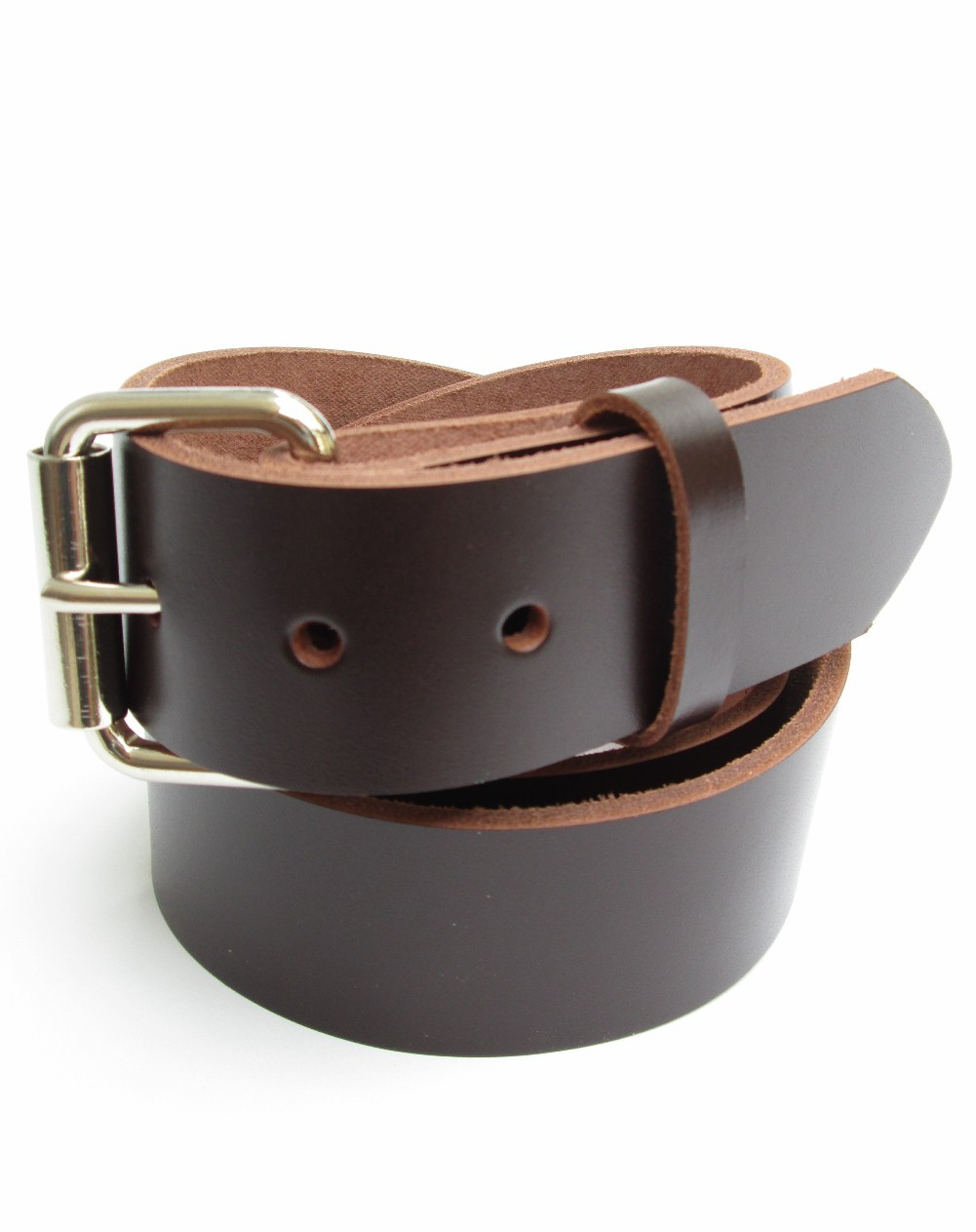 "32/"" HANDMADE 1 3//4/"" WIDE BLACK LEATHER BELTS WITH CONCHOS AND ATTACHED BUCKLE"