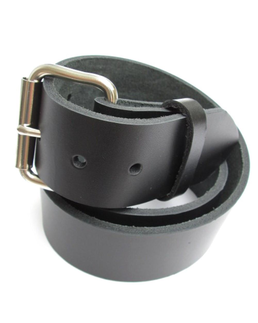 Mens Heavy Duty Dark Chocolate Brown Leather Belt 1 Wide