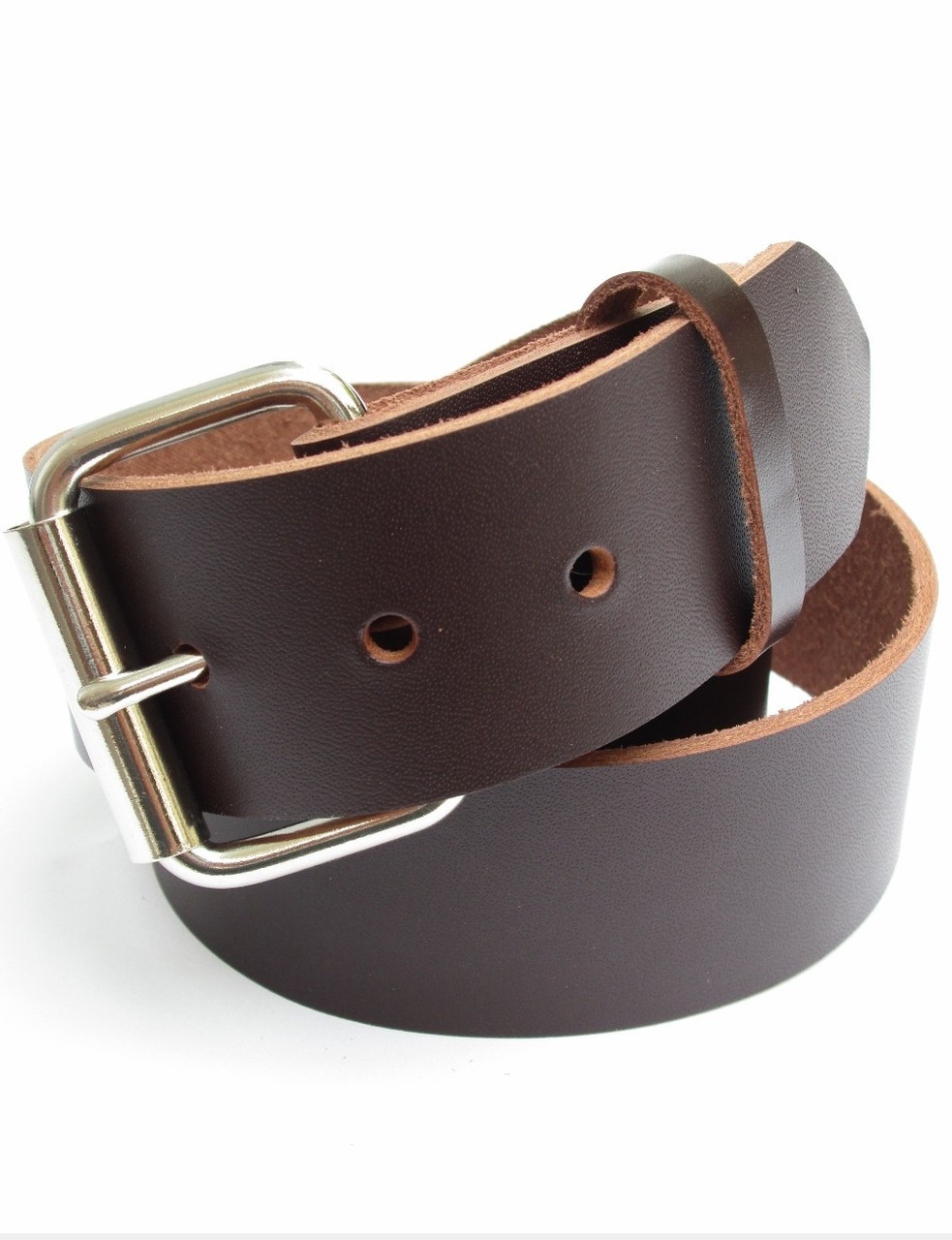 c8706122299 MENS HEAVY BROWN LEATHER BELT 1 3 4