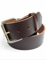 "MENS HEAVY BROWN LEATHER BELT 1 3/4"" Wide Size 30 through 72"