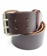 "MENS DARK CHOC BROWN HEAVY LEATHER BELT 2"" Wide Size 30 through 72"