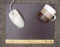 """HEAVY DUTY GIANT 9"""" x 12""""  DARK BROWN LEATHER MOUSE PAD"""