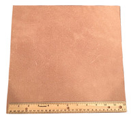 "LEATHER SIDE PIECE VEG TAN SPLIT Medium Weight 12"" X 12"" 1 Square Foot"