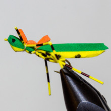 Green Top Yellow Underside Foam Bodied Hopper