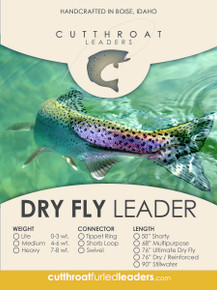 Cutthroat Dry Fly Furled Leader