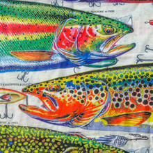 Bandana - 4 Trout Pattern