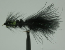 Black & Green Woolly Bugger