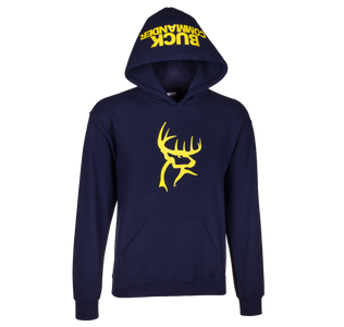 Navy and Yellow Logo Hoodie