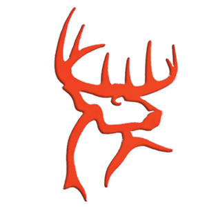 Deer Head Decal-Orange