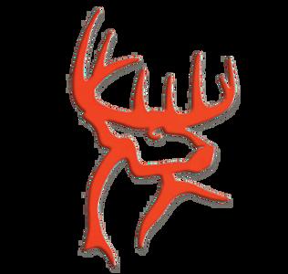 Deer Head Decal-Orange