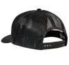 Color: Black, with white cow embroidered on the front Cotton twill front panels and visor with mesh back panels, ProCrown with buckram-fused front panels and ProStitching, Pre-curved PE visor with eight rows of stitching Snapback