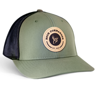 Buck Commander Leather Patch Fitted Richardson Hat