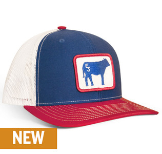 Limited Edition E3 Cow Patriotic Patch Hat
