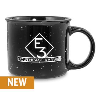 E3 Black Ceramic Camper 13 oz. Mug