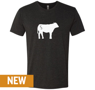 E3 Black Cow T-Shirt