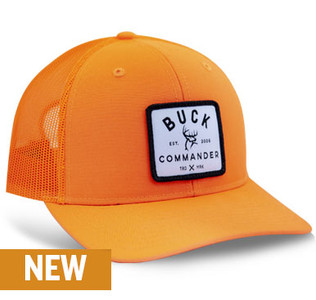 Buck Commander Blaze Orange Richardson Patch Hat