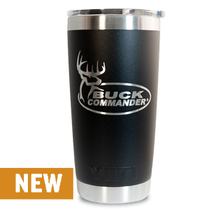 Buck Commander 20oz Black Yeti Rambler