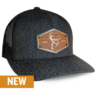 Buck Commander x Union Standard Supply Co. Black/Black Cherry Wood Patch Hat