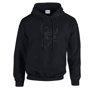 Buck Commander Icon Black Hoodie