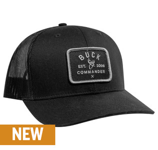 Buck Commander Black Patch Richardson Hat