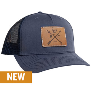 Buck Commander Leather Arrow Patch Navy Richardson Hat