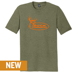 Buck Commander Military Green Triblend Tee