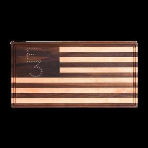 E3 Meat Co American Flag Cutting Board